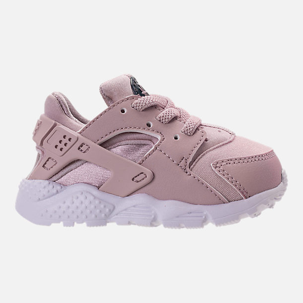 Right view of Girls' Toddler Nike Huarache Run Running Shoes in Particle Rose/Particle Rose/Thunder