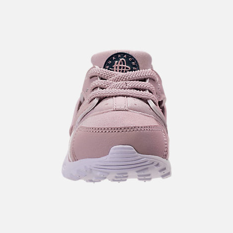 Front view of Girls' Toddler Nike Huarache Run Running Shoes in Particle Rose/Particle Rose/Thunder