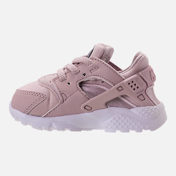 Left view of Girls' Toddler Nike Huarache Run Running Shoes in Particle Rose/Particle Rose/Thunder