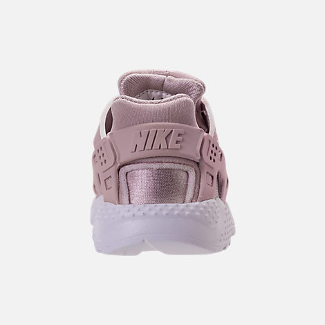 Back view of Girls' Toddler Nike Huarache Run Running Shoes in Particle Rose/Particle Rose/Thunder