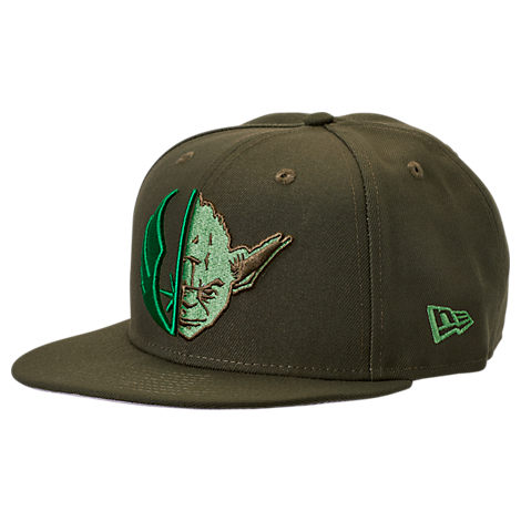 New Era Star Wars 9fifty Snapback Hat In Green