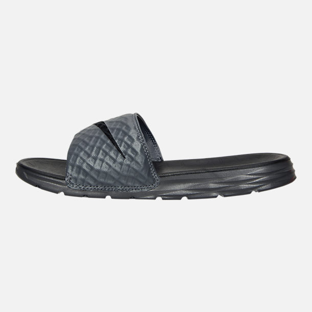 Left view of Men's Nike Benassi Solarsoft Slide 2 Slide Sandals
