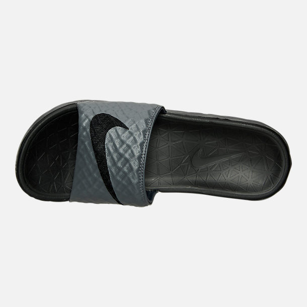 Top view of Men's Nike Benassi Solarsoft Slide 2 Slide Sandals