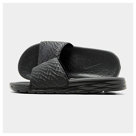 8eebdbc007af Nike Men S Benassi Solarsoft Slide 2 Sandals From Finish Line In Black