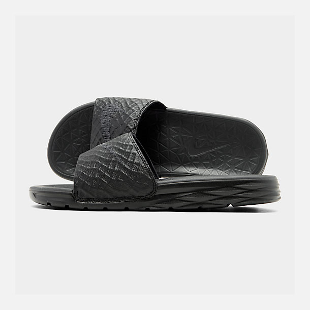 7540192981daa3 Right view of Men s Nike Benassi Solarsoft Slide 2 Slide Sandals in Black  Anthracite