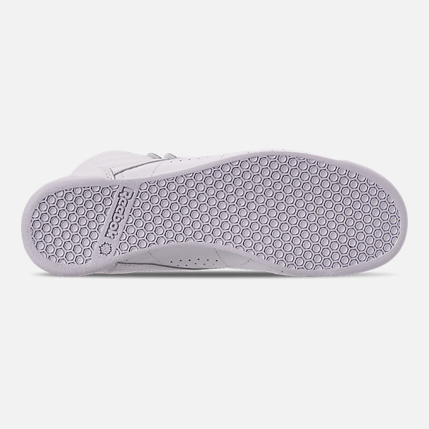 Bottom view of Women's Reebok Freestyle Hi Casual Shoes in White