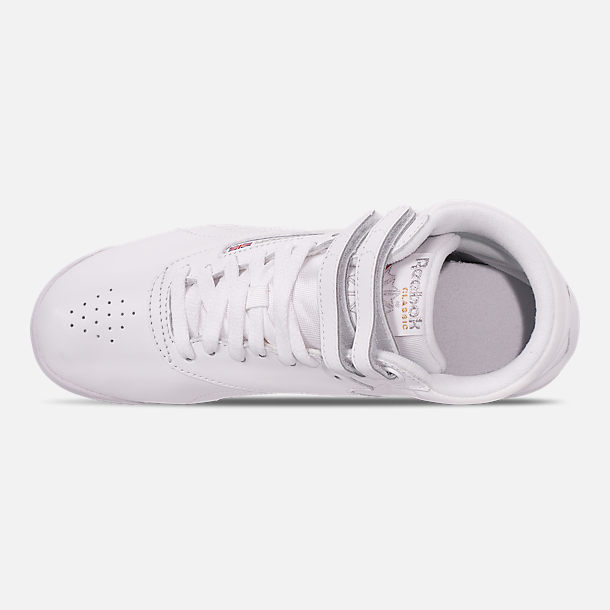 Top view of Women's Reebok Freestyle Hi Casual Shoes in White
