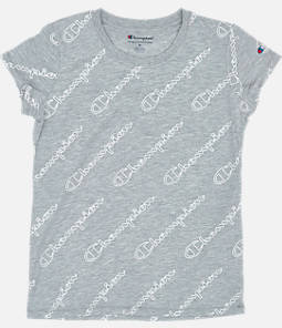 Girls' Champion Script Allover Print T-Shirt