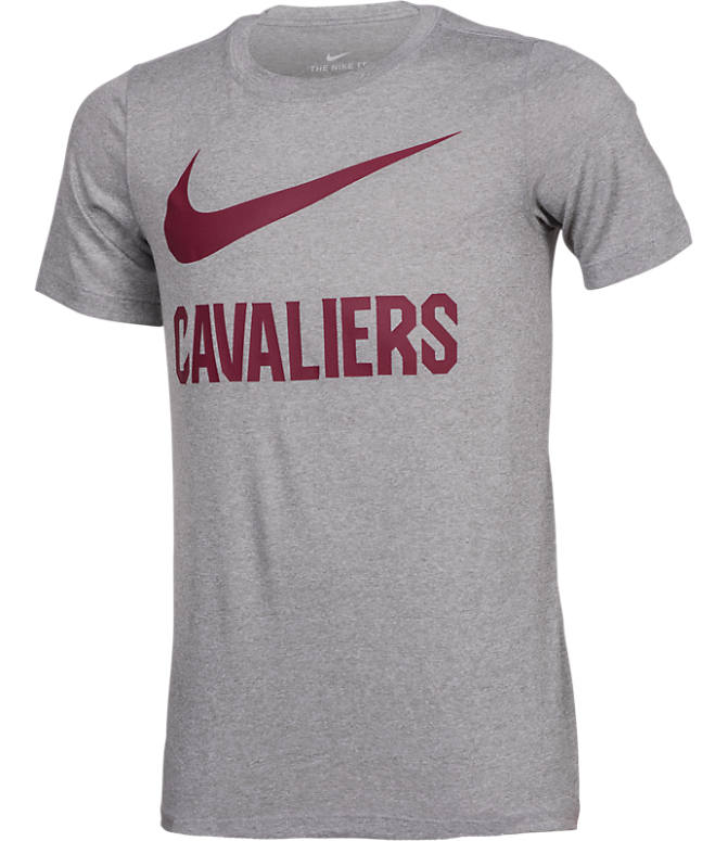 Front view of Kids' Nike Cleveland Cavaliers NBA Swoosh T-Shirt in Team Colors