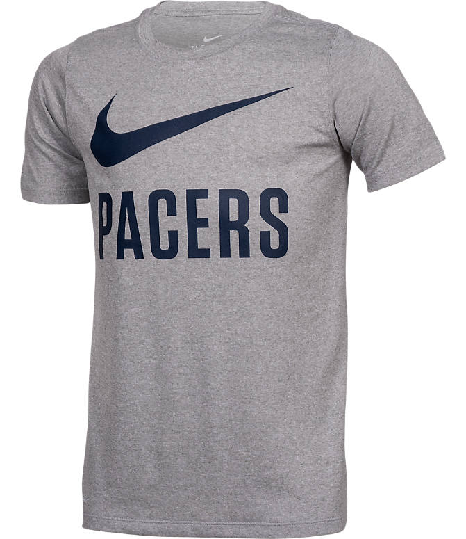 Front view of Boys' Nike Indiana Pacers NBA Swoosh T-Shirt in Team Colors