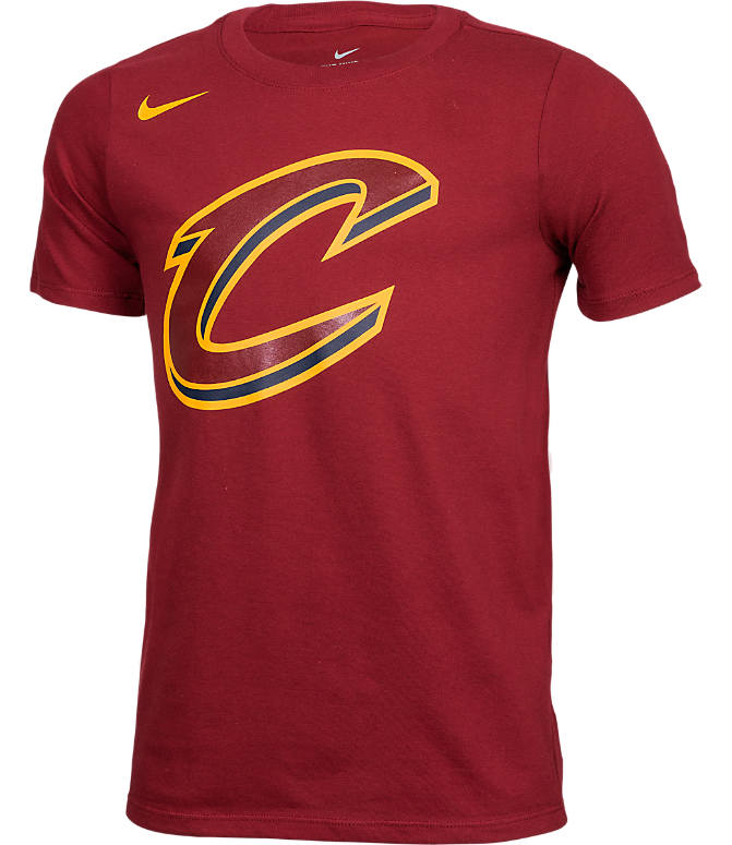 Front view of Kids' Nike Cleveland Cavaliers NBA Logo T-Shirt in Team Red/University Gold