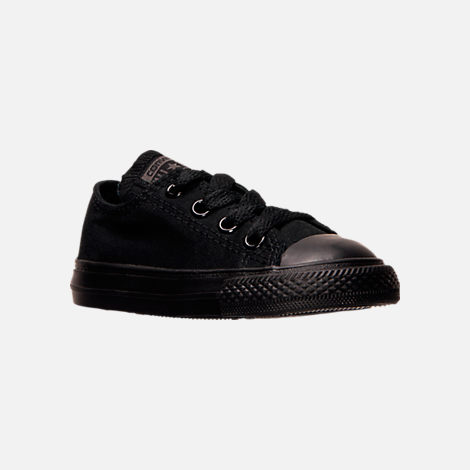 5a089de07c5b Three Quarter view of Boys  Toddler Converse Chuck Taylor Ox Casual Shoes  in Black
