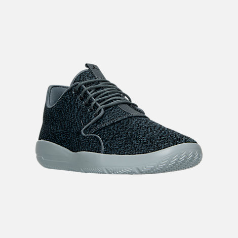 Three Quarter view of Men's Air Jordan Eclipse Off Court Shoes in Cool Grey/Black/Wolf Grey