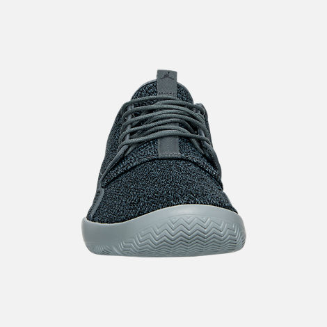 Front view of Men's Air Jordan Eclipse Off Court Shoes in Cool Grey/Black/Wolf Grey