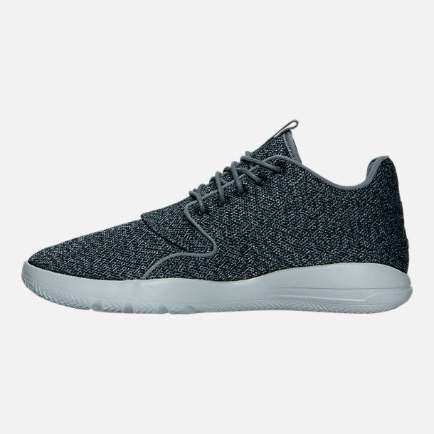 Left view of Men's Air Jordan Eclipse Off Court Shoes in Cool Grey/Black/Wolf Grey