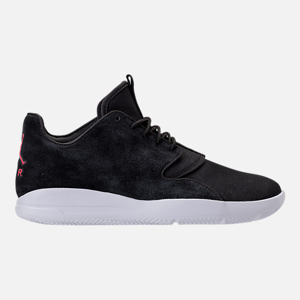 Right view of Men's Jordan Eclipse Suede Off-Court Shoes in Black Suede