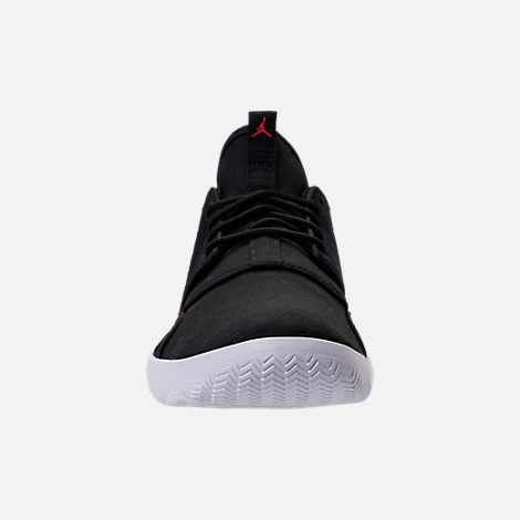Front view of Men's Jordan Eclipse Suede Off-Court Shoes in Black Suede