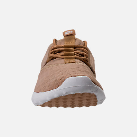 Front view of Women's Nike Juvenate Casual Shoes in Mushroom/Elemental Gold/Summit White