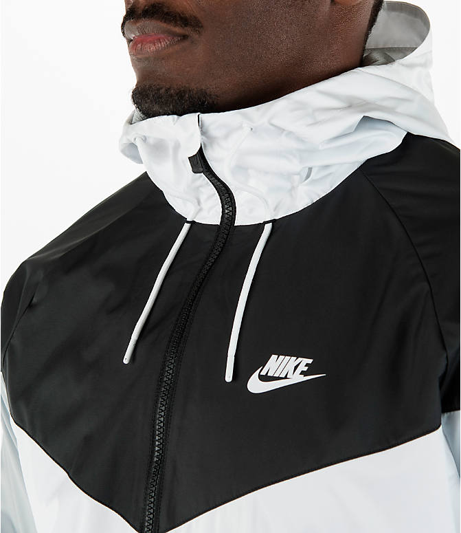 Detail 2 view of Men's Nike Sportswear Windrunner Full-Zip Jacket in White