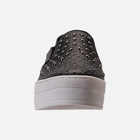 Front view of Women's Skechers Uplift - Studded Slip-On Casual Shoes in Black