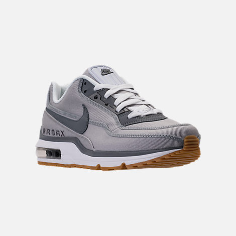 Three Quarter view of Men's Nike Air Max LTD 3 Running Shoes in Wolf Grey/Cool Grey/White
