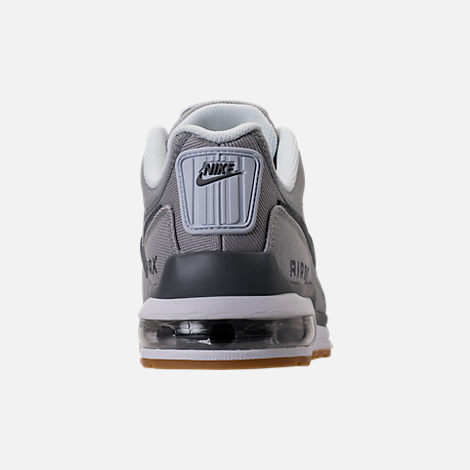 Back view of Men's Nike Air Max LTD 3 Running Shoes in Wolf Grey/Cool Grey/White