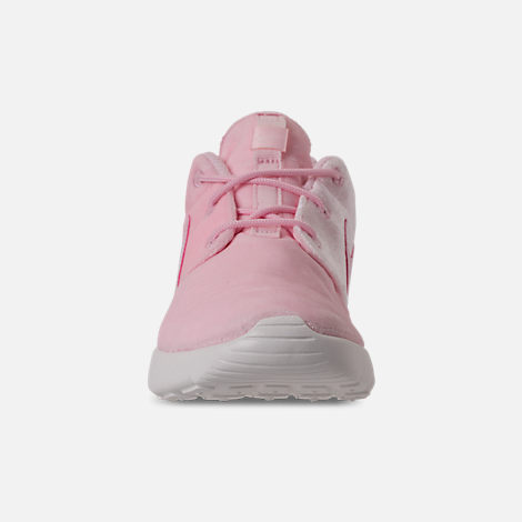 Front view of Girls' Preschool Nike Roshe One Casual Shoes in Arctic Pink/Arctic Pink/Sail