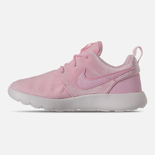 Left view of Girls' Preschool Nike Roshe One Casual Shoes in Arctic Pink/Arctic Pink/Sail