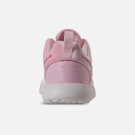 Back view of Girls' Preschool Nike Roshe One Casual Shoes in Arctic Pink/Arctic Pink/Sail