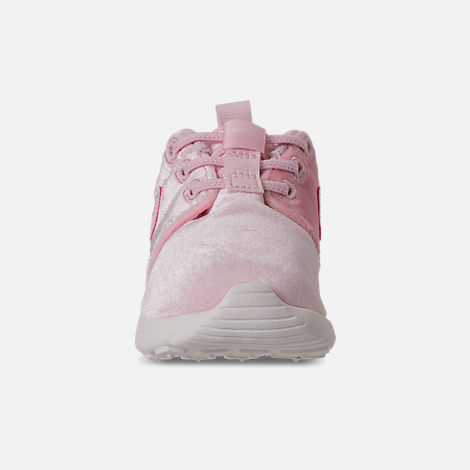 Front view of Girls' Toddler Nike Roshe One Casual Shoes in Arctic Pink/Sail