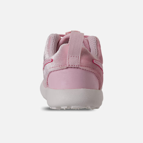 Back view of Girls' Toddler Nike Roshe One Casual Shoes in Arctic Pink/Sail