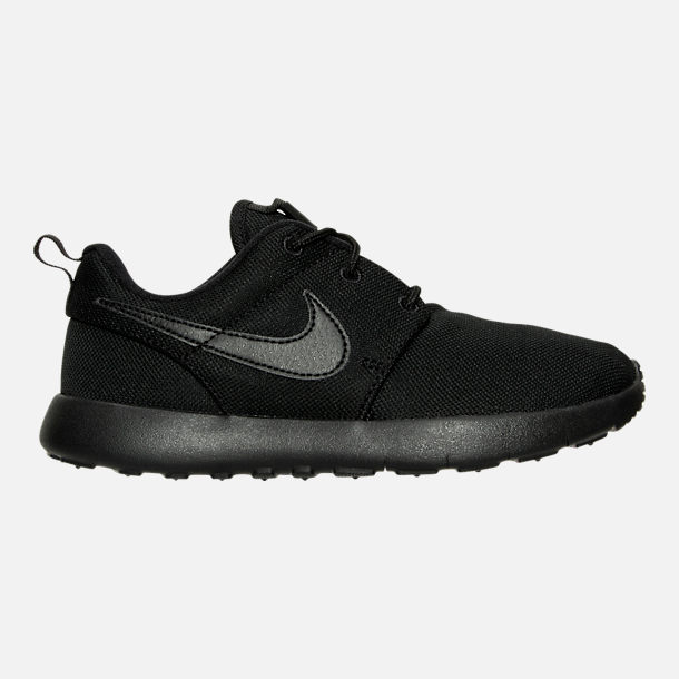 Right view of Boys' Little Kids' Nike Roshe One Casual Shoes in Black/Black/Black