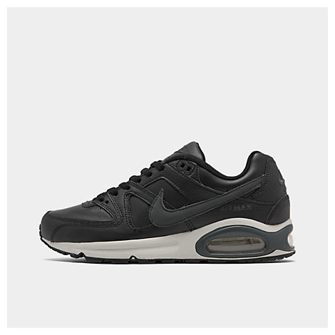 nike men's air max command leather casual shoes in black