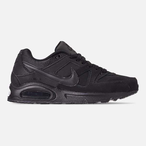 Right view of Men's Nike Air Max Command Leather Casual Shoes in Black/Anthracite/Neutral Grey