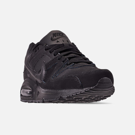 Three Quarter view of Men s Nike Air Max Command Leather Casual Shoes in  Black Anthracite 259e46adbc