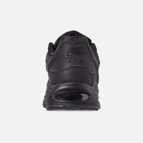 Back view of Men's Nike Air Max Command Leather Casual Shoes in Black/Anthracite/Neutral Grey