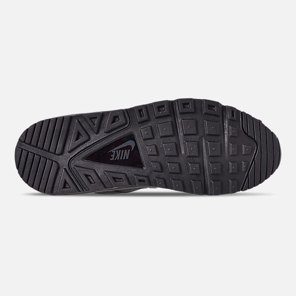 Bottom view of Men's Nike Air Max Command Leather Casual Shoes in Black/Anthracite/Neutral Grey