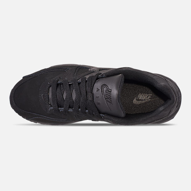 1f8b90f43707 Top view of Men s Nike Air Max Command Leather Casual Shoes in Black  Anthracite