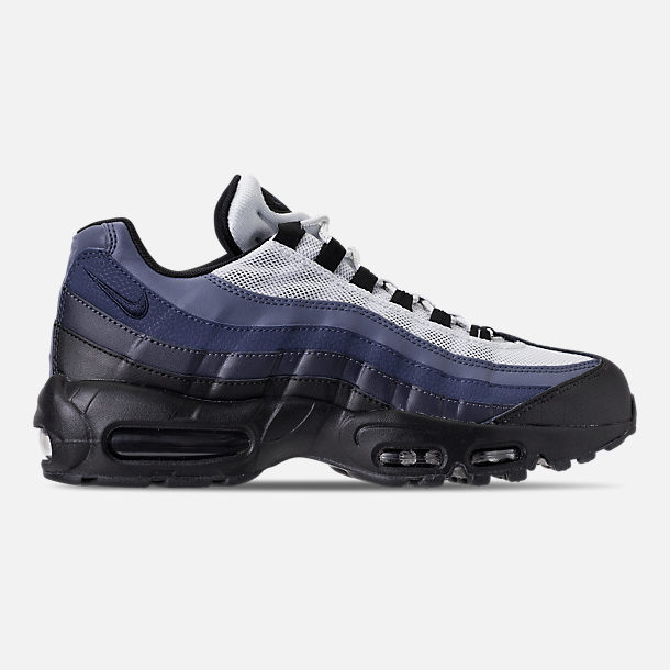 Right view of Men's Nike Air Max 95 Essential Casual Shoes in Black/Obsidian/Navy Blue