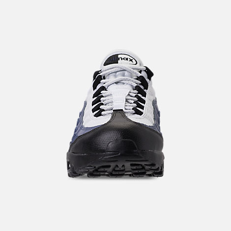 Front view of Men's Nike Air Max 95 Essential Running Shoes in  Black/Obsidian/