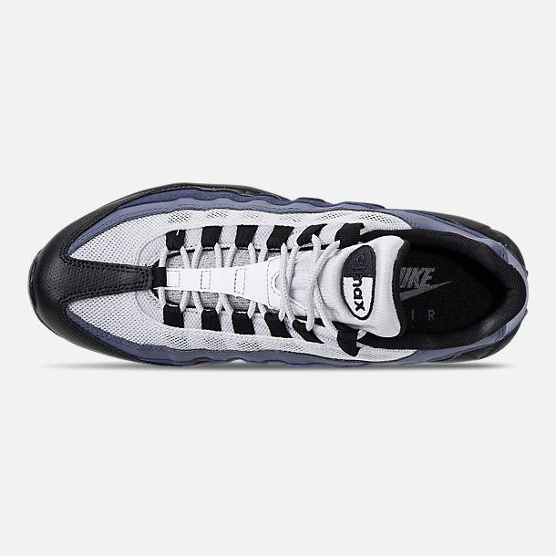 Top view of Men's Nike Air Max 95 Essential Casual Shoes in Black/Obsidian/Navy Blue