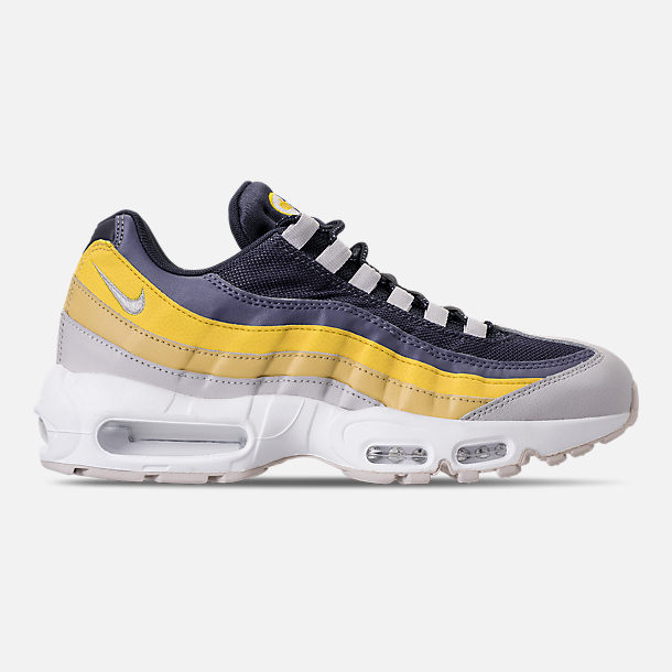 Right view of Men's Nike Air Max 95 Essential Casual Shoes in White/Vast Grey/Lemon Wash