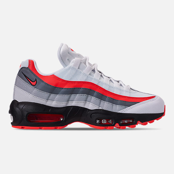 124ecc2827 Right view of Men's Nike Air Max 95 Essential Casual Shoes in White/Bright  Crimson