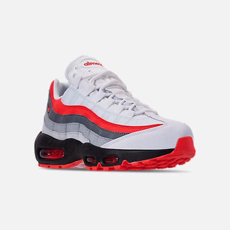 Three Quarter view of Men s Nike Air Max 95 Essential Casual Shoes in White  Bright 06dc70547