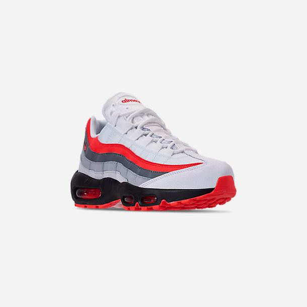 7a508a118b Three Quarter view of Men's Nike Air Max 95 Essential Casual Shoes in White/ Bright