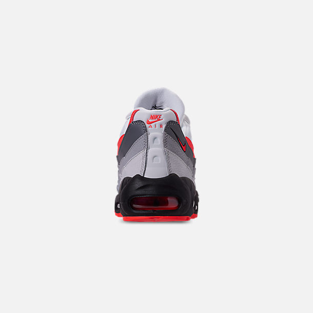 quality design 4eb81 a1966 Back view of Men s Nike Air Max 95 Essential Casual Shoes in White Bright  Crimson