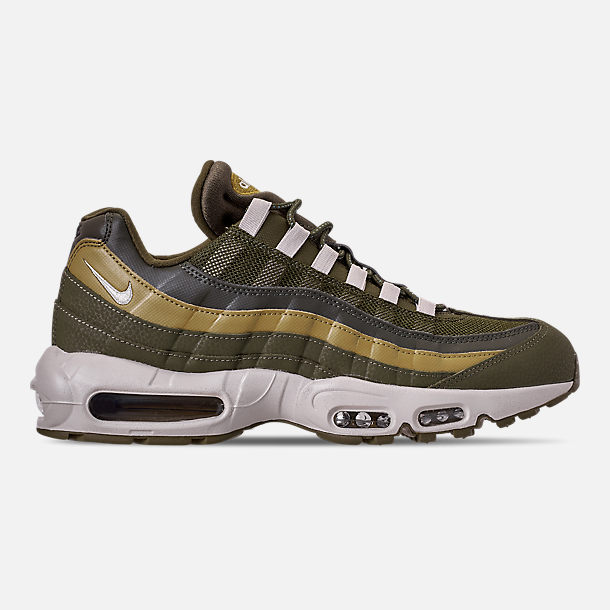 9ad161a972 Right view of Men s Nike Air Max 95 Essential Casual Shoes in Olive  Canvas Light