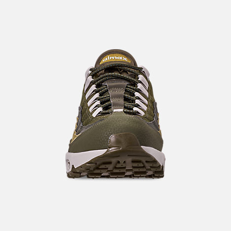 sale retailer e43d1 2179e Front view of Men s Nike Air Max 95 Essential Casual Shoes in Olive  Canvas Light