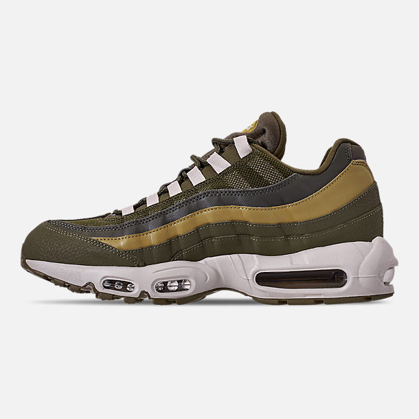 release date: c49e5 e0142 Left view of Men s Nike Air Max 95 Essential Casual Shoes in Olive  Canvas Light