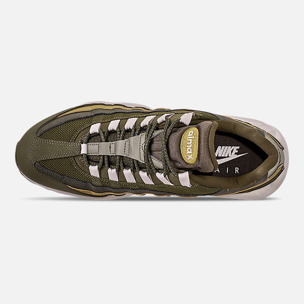reputable site 6389e 2359d Top view of Men s Nike Air Max 95 Essential Casual Shoes in Olive  Canvas Light